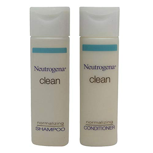 Neutrogena Clean Normalizing Shampoo & Conditioner 0.8 oz bottles - Lot of 24 - (12 each) - Total of 19.2oz