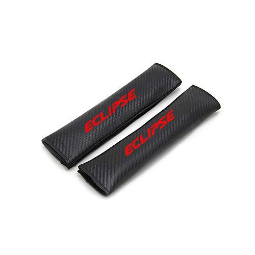 2 Almohadillas Para Mitsubishi Eclipse Protector De CinturóN De Seguridad Para AutomóVil Almohadilla De Hombro Con Fibra De Carbono,Cubierta De CinturóN De Seguridad Protector De Hombro