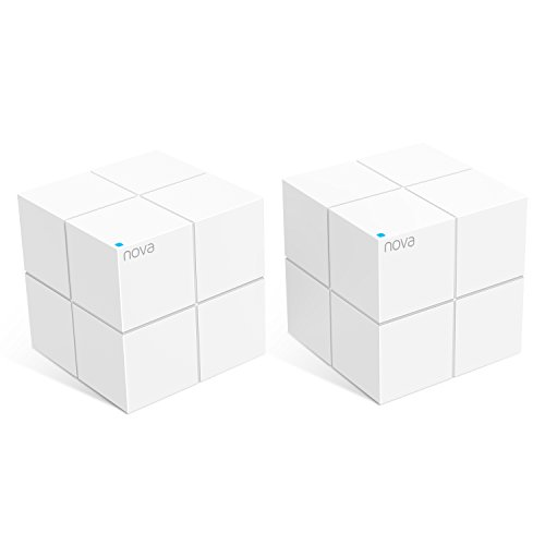Tenda Nova MW6-2 Système Wi-Fi Mesh pour Toute la Maison (Routeur Wifi remplacement) Couverture Wi-Fi de 350m², 2 Ports Gigabit, Contrôle Parental, Compatible avec Alexa, 3 ans de Garantie (Pack de 2)
