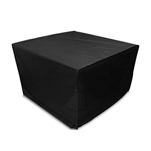 ALGFree Garden Patio Furniture Cover, Table Cover Outdoor Furniture Waterproof Anti-UV Heavy Duty Four Seasons Universal Patio Cube Rattan Cover, 28 Sizes (Color : Black, Size : 70x70x100cm)