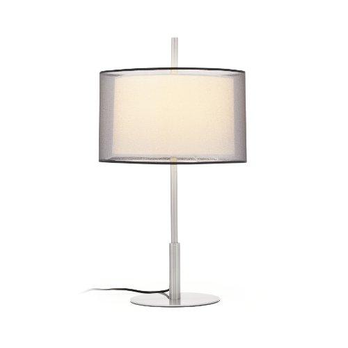 Faro Barcelona 68545 SABA Lampe de table nickel mat h60 mm