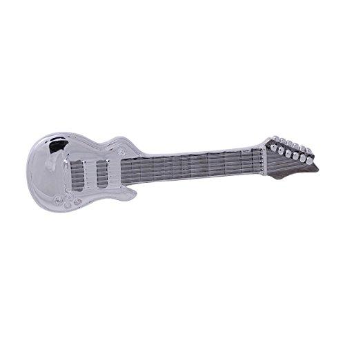 Anstecker Gitarre (versilbert) mit echten Nylon Saiten