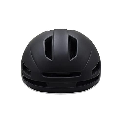 Casco de bicicleta con luz trasera para commuter Urban Scooter ajustable para hombres y mujeres, casco de ciclismo de ciudad ajustable, ligero casco de bicicleta para adultos (Negro)