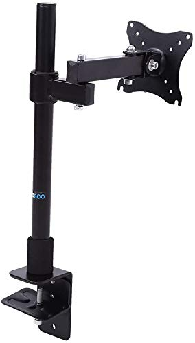 """Single LCD Monitor Mount Stand,Adjustable Screen Bracket Monitor Stand Desk Mount Fits Most Flat Panel Monitors Up to 27"""""""