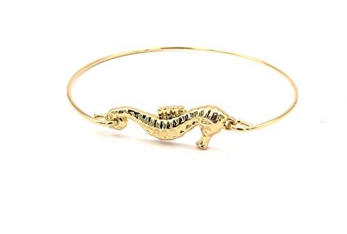 Seepferdchen Armreif Damen Modeschmuck goldfarben