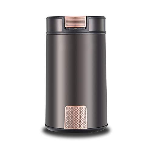 SYSP Elektrische koffiemolen, 200 W, krachtige molen voor espresso, molen met lemmet van roestvrij staal, geschikt voor specerijen, pepers, zaden, zout, notenhout