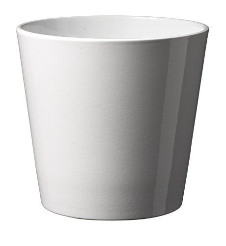 Soendgen Keramik–Vaso per fiori stile Dallas, bianco, 16 x 16 x 15 cm