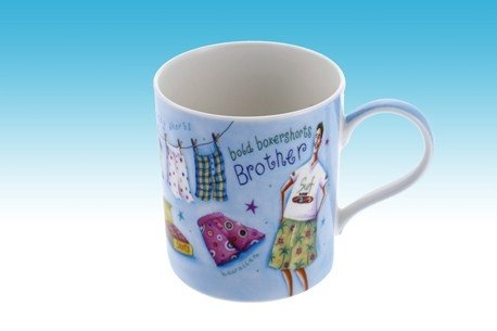 BROTHER Fijne CHINA MUG BOLD BOXERSHORTS ONTWERP