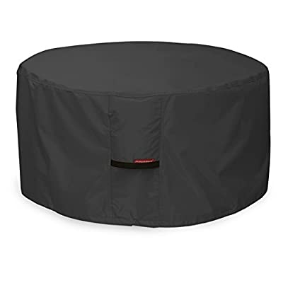 Porch Shield Fire Pit Cover - Waterproof 600D Heavy Duty Round Patio Fire Bowl Cover Black - 36 inch
