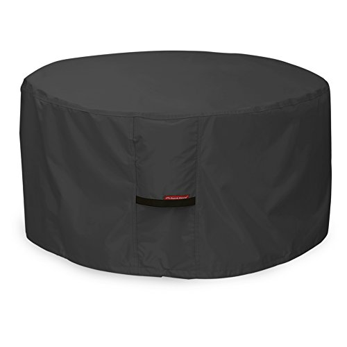 Porch Shield Fire Pit Cover - Waterproof 600D Heavy Duty Round Patio Fire Bowl Cover Black - 32 inch