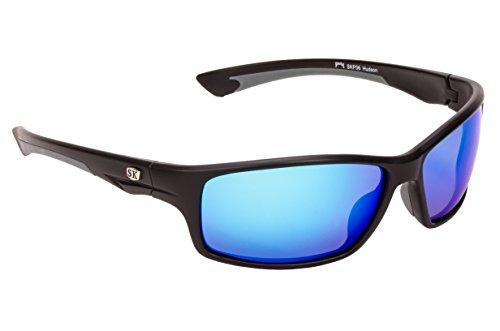 Strike King Plus Hudson Polarized Sunglasses with Matte Black/Gray Frames and Revo Blue Mirror Gray Lenses (SG-SKP36)