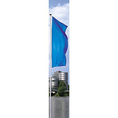 MANNUS Fahnenmast aus eloxiertem Aluminium - mit Zylinderschloss, Ø 75 mm, ohne drehbaren Ausleger - Höhe über Flur 8 m - Fahne Fahnen Fahnenmast Fahnenstange Flagge Flaggen Flaggenmast Flaggenmasten
