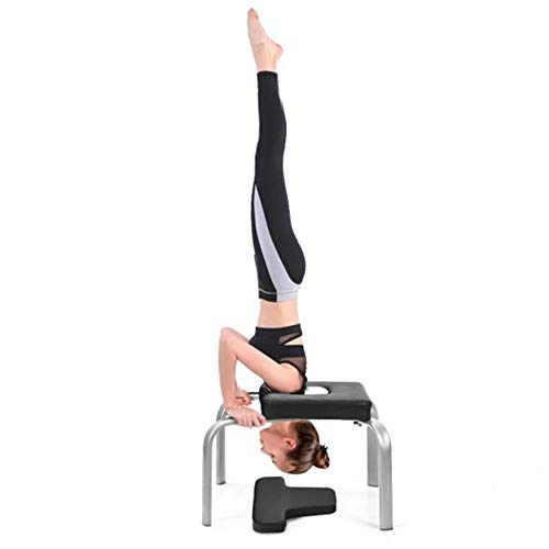 Lowest Prices! Yoga Inversion Iron Headstand Bench w/PVC Pads for Workout, Fitness Family Gym