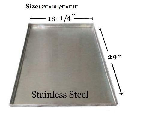 """Replacement Tray for Dog Crate Pan 29 Crate Pan Stainless Steel Dog Pan Tray - Midwest Folding 1330TD,1530, 1530DD, 430, 430DD (icrate&Select&ACE)(30x19) - SS - 29"""" x 18 1/4"""" x1"""" H Basic Crates"""