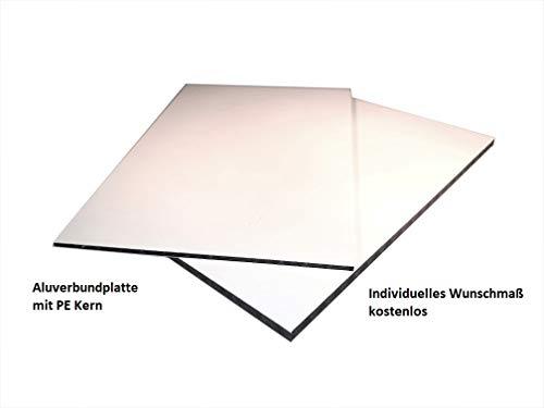 2-4mm Aluverbundplatte Sandwichplatte weiß Aluminium Verbundplatte mit Kunststoff PE Kern Zuschnitt kostenlos (4mm, 900x500mm)