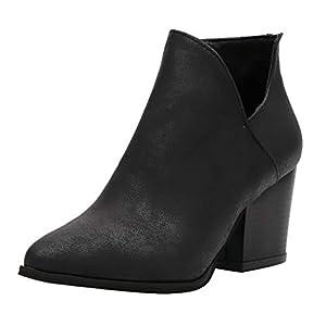 Zapatos De CuñA para Mujer-Antideslizante De Gran TamañO-Europa Y Los Estados Unidos Comercio Exterior Leopardo Serpiente PatróN V Hebilla Cremallera con Un Solo Zapatos Botas Desnudas(Negro,38EU)