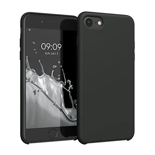 kwmobile Custodia Compatibile con Apple iPhone 7/8 / SE (2020) - Cover in Silicone TPU - Back Case per Smartphone - Protezione Gommata Nero Matt