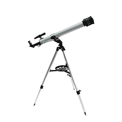Telescopio astronómico, potente y fácil de usar, con trípode de aluminio ajustable, apto para niños principiantes para ver la luna y los planetas