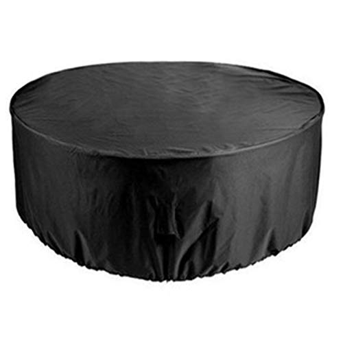 Lopbinte Gran Cubierta de Muebles de JardíN Al Aire Libre Sofá de Mimbre Impermeable Oxford Proteger JardíN Terraza Lluvia Nieve Polvo Cubierta Negra