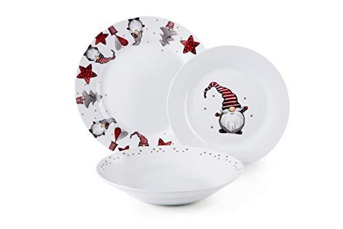 Excelsa Gnomo Vajilla de 18 piezas, porcelana