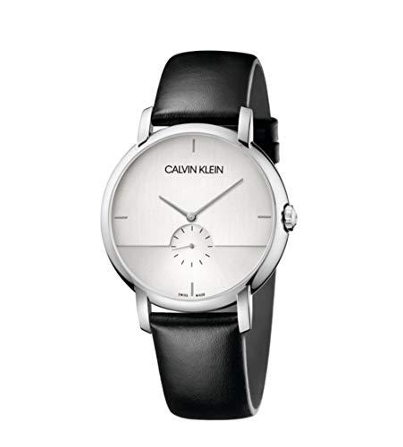Calvin Klein orologio uomo Established bianco acciaio pelle quarzo K9H2X1C6
