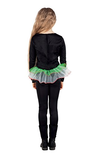 Boland- Costume Scheletro Neon Skeleton Girl per Bambini, Multicolore, 4-6 anni, 78012