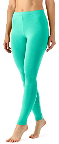 Merry Style Damen Lange Leggings aus Viskose MS10-143 (Minze, XL)