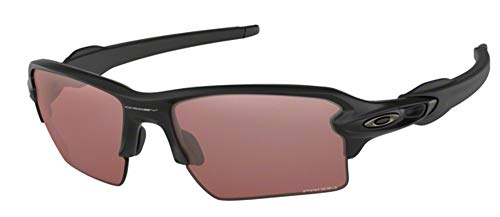 Oakley Flak 2.0 XL OO9188 918890 59M Matte Black/Prizm Dark Golf Sunglasses For Men+BUNDLE with Oakley Accessory Leash Kit