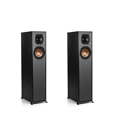Klipsch Reference R-610F Floorstanding Home Speakers, Black, Pair