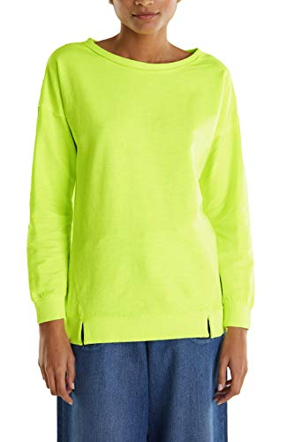 edc by ESPRIT Damen 030CC1J302 Sweatshirt, 760/LIME Yellow, M