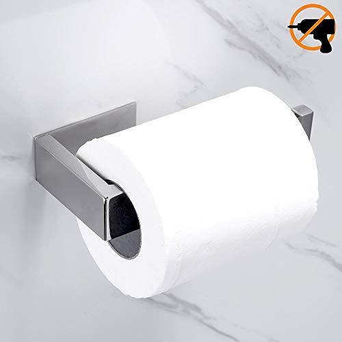 Lolypot Toilettenpapierhalter ohne bohren Klopapierhalter Klorollenhalter 304 Edelstahl Spiegel Chrom Poliert Finish WC Halter Rollenhalter Selbstklebend Bad Papierhalter für Badzimmer und Küche