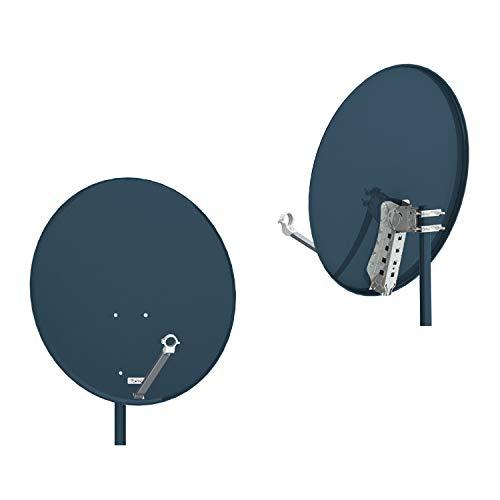 RED OPTICUM Antenna satellitare X80 80 cm acciaio antracite, 5005