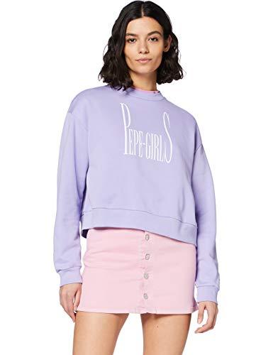 Pepe Jeans Grace Sudadera, Morado (Violet 433), Large para Mujer