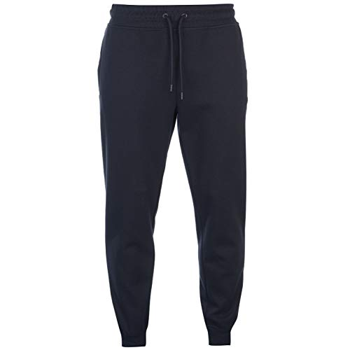 Firetrap Hombre Pique Panel Pantalones De Jogging Azul Marino XL