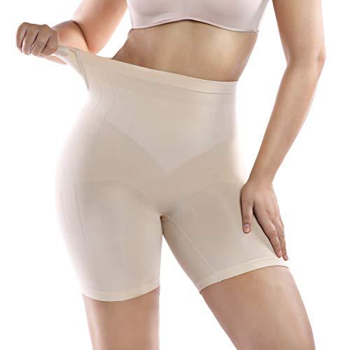 +MD Fajas sin Costuras para Mujer Control de la Barriga Faja Media Cintura Body Shaper Body Corset NudeL