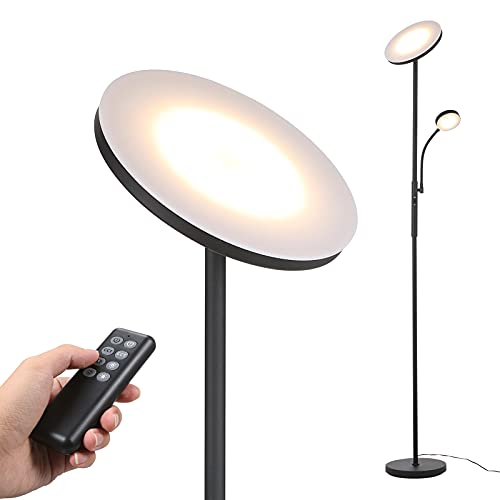 Led Uplighter Floor Lamps Dimmable Rotatable 2 Lights for Living Room with...