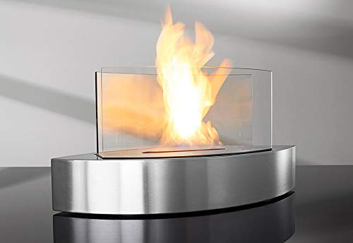 Read About Sharper Image Tabletop Fireplace - Black