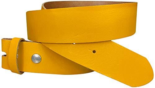 FRONHOFER Wechselgürtel 4 cm, Gürtel ohne Schnalle, Gürtel mit Druckknopf, echt Leder, 18267, Größe:Körperumfang 115 cm/Gesamtlänge 130 cm, Farbe:Curry