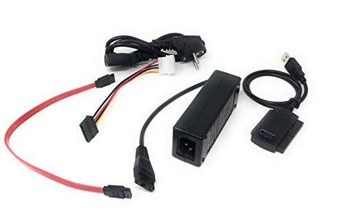 Adattatore Alimentato Per Collegare Hard Disk Esterno Sata O Ide Con USB 2.0
