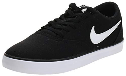 Nike SB Check Solar Cnvs, Zapatillas de Deporte Hombre, Negro (Black/White), 43 EU