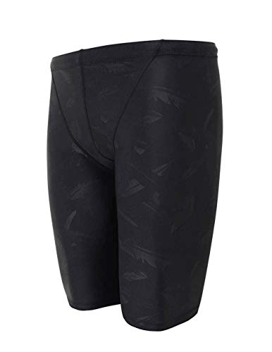 Srnfean Men`s Swimming Jammers Endurance+ Quick Dry Swimsuit Black Feather Medium