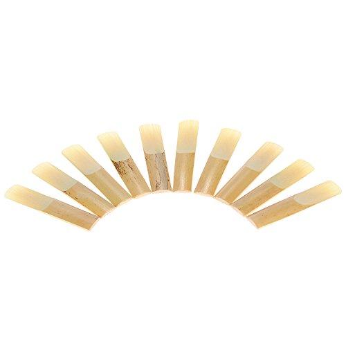 ammoon 10-pack Pieces Stärke 3.0Bamboo Reeds für EB Altsaxophon Tenor Zubehör 2.5#