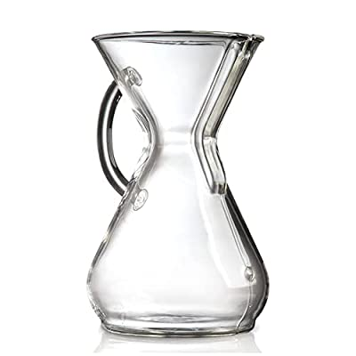 Chemex Pour-Over Glass Coffeemaker - Glass Handle Series - 8-Cup - Exclusive Packaging