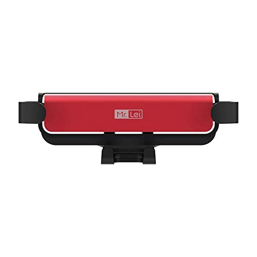 Romoss Soporte Móvil Coche, Porta Movil Coche Ventilación para Rejillas del Aire de Coche para iPhone 6 7 8 X XR XS 11 Pro MAX Samsung Galaxy S9 S10 Plus-Rojo