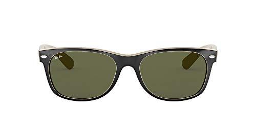 Ray-Ban 2132, Gafas de Sol Unisex, Multicolor (Black/Beige), 55 mm