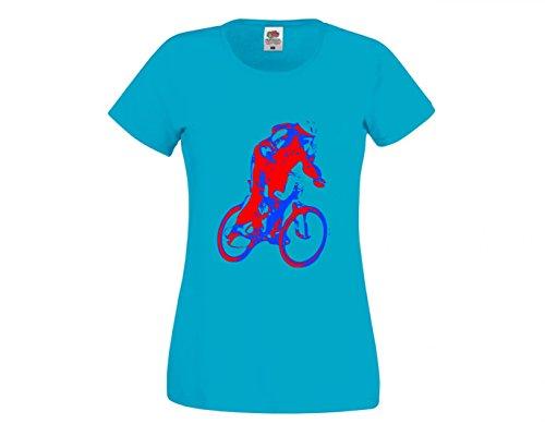 Camiseta para ciclistas, ciclismo, deporte, ciclismo, ciclismo, ciclismo, ciclismo, ciclismo, casco de Ciclismo, JUNG, rojo, azul, ERHOLUNG, ciclismo, tiempo libre, para hombre, mujer, niños, 104 – 5XL azul Para Hombre Talla : X-Large