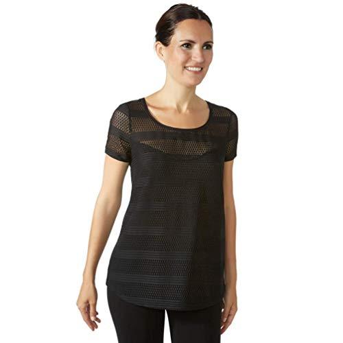 JANIRA Camiseta de Mujer Bandes Modal CTA - Negro, L