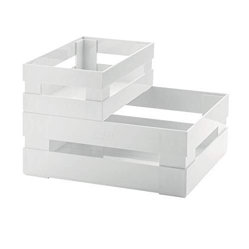 Guzzini Set 2 Cassette Kitchen Active Design, Bianco, 30.5 x 22.5 x h19.5 cm
