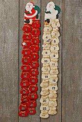Adventskalender Weihnachtsmann sorttiert Sie erhalten einen Adventskalender beige oder rot zum befüllen von boltze (Rot)