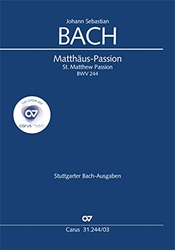 Matthäus-Passion (Klavierauszug): BWV 244
